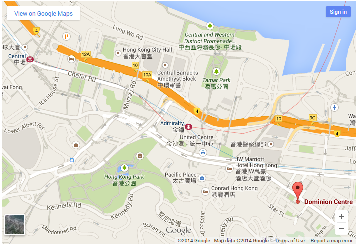 Hong Kong office location