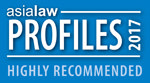 Charltons is highly recommended by Asialaw Profiles 2017