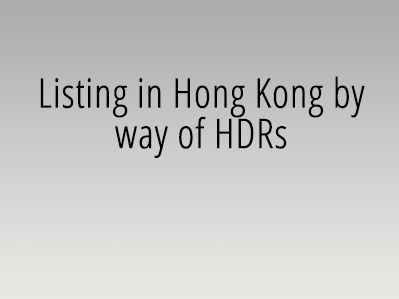 The listing in Hong Kong by way of HDRs