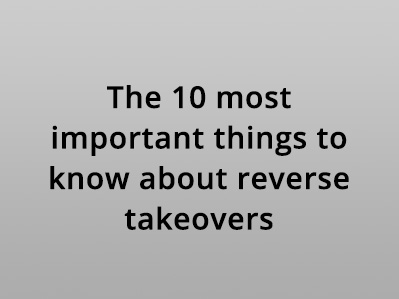 The 10 Most Important Things to Know About RTOs of HK Listed Companies