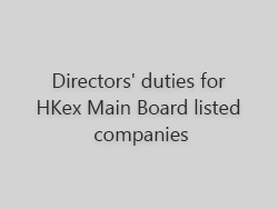 Directors' duties for HKEx Main Board listed companies