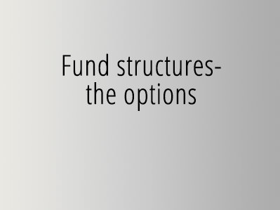 Fund structures- the options