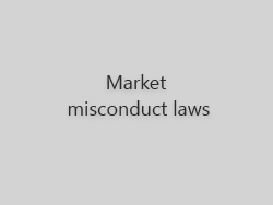 Market misconduct laws