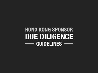 Hong Kong Sponsor Due Diligence Guidelines