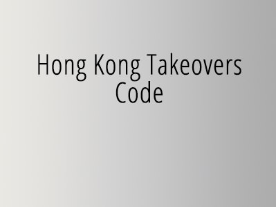 Hong Kong takeovers code