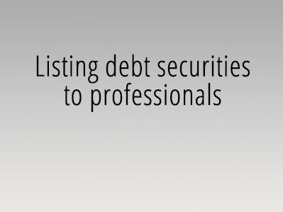Listing debt securities to professionals