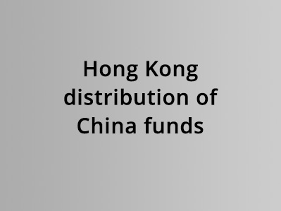 Hong Kong distribution of China funds