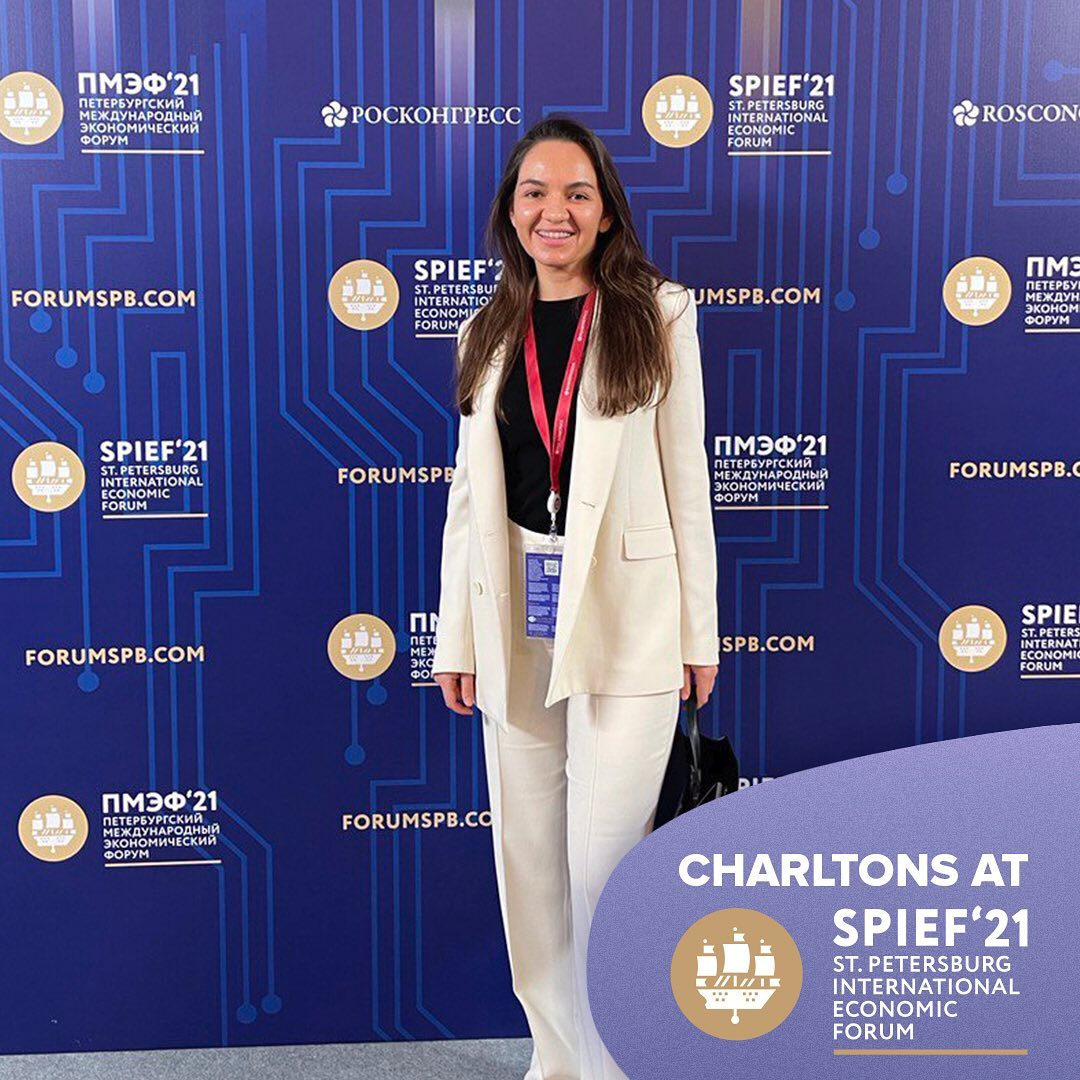 Charltons attended the International Economic Forum (SPIEF) in St. Petersburg